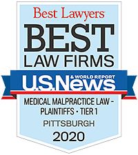 Best Lawyers Best Law Firms - Medical Malpractice Law Plaintiffs Tier 1 - Pittsburgh 2020